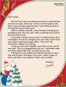 letter from santa clause